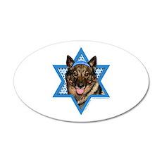 Hanukkah Star of David - Vallhund 20x12 Oval Wall