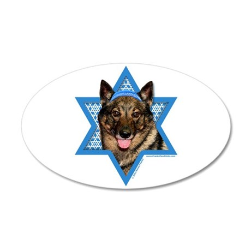 Hanukkah Star of David - Vallhund 35x21 Oval Wall