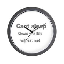 Clowns Ptsd Wall Clock