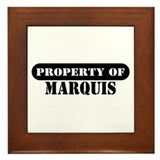 Property of Marquis Framed Tile