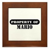 Property of Mario Framed Tile