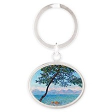 Monet - The Esterel Mountains Oval Keychain