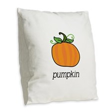 pumpkin_CP.png Burlap Throw Pillow