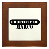 Property of Marco Framed Tile