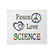 Peace Love SCIENCE Throw Blanket