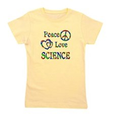 Peace Love SCIENCE Girl's Tee