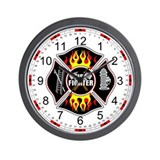 FireFighter Shield Wall Clock