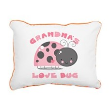 Grandma's Love Bug Rectangular Canvas Pillow