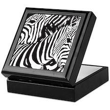 Nuzzling Zebras Keepsake Box