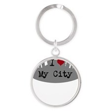 Customizable I Heart City Keychains