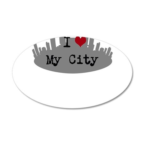Customizable I Heart City Wall Decal