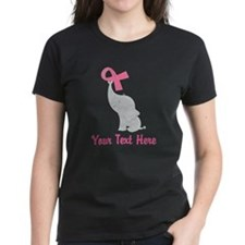 Breast Cancer Personalized Ribbon Tee