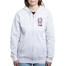 Breast Cancer Survivor Ribbon custom Zip Hoodie