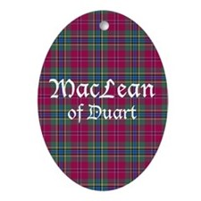 Tartan - MacLean of Duart Ornament (Oval)