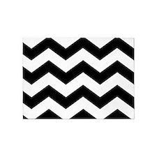 Black and White Chevron 5'x7'Area Rug