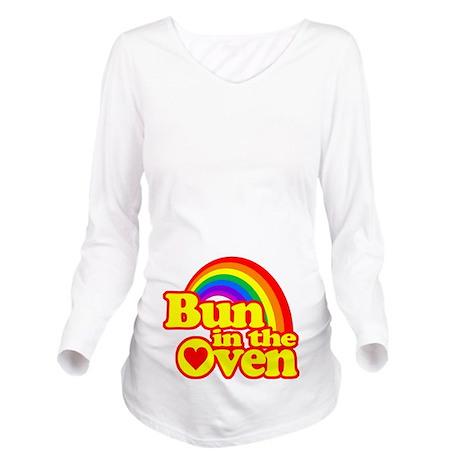 Cute! Bun in the Oven Long Sleeve Maternity T-Shir