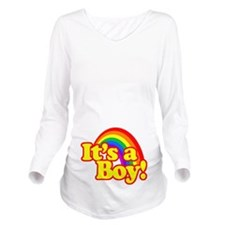 Its a Boy with Rainbow Long Sleeve Maternity T-Shi