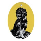 Affenpinscher Oval Ornament