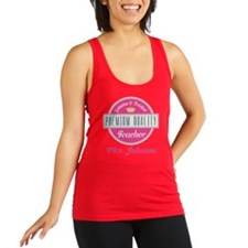 Personalized Vintage Teacher Racerback Tank Top