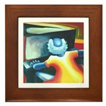 The Piano Player Framed Tile
