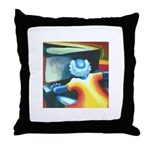 The Piano Player Throw Pillow