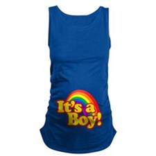 Its a Boy with Rainbow Maternity Tank Top