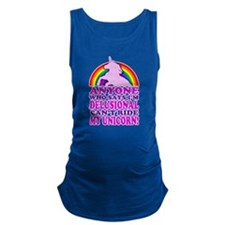 Funny! Delusional Unicorn (Distressed) Maternity T