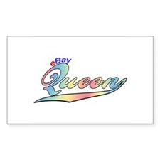 EBAY eBay Queen Rectangle Decal