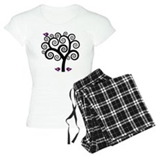 Black & Purple Swirl Tree Pajamas