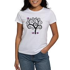 Black & Purple Swirl Tree Tee