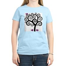 Black & Purple Swirl Tree T-Shirt
