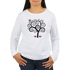 Black & Purple Swirl T T-Shirt