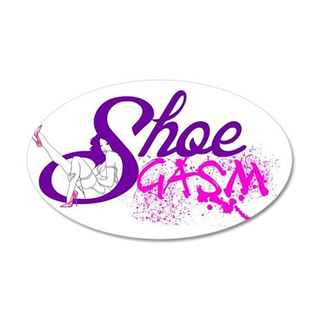 ShoeGasm 35x21 Oval Wall Decal