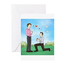 Gay Wedding Proposal Greeting Cards (Pk of 10)