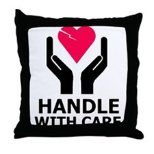 Fragile Heart Throw Pillow