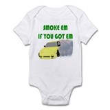 Smoke Tires Onesie
