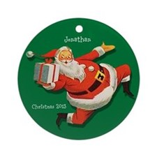 Personalized Santa Claus with Gift Ornament