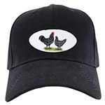 Java Rooster and Hen Black Cap