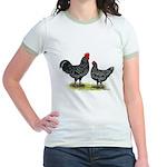 Java Rooster and Hen Jr. Ringer T-Shirt