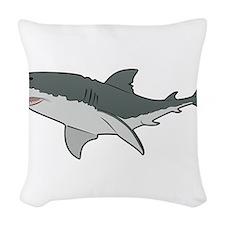 Great White Shark Woven Throw Pillow