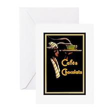 Caf`e Chocolats - Greeting Cards (Pk of 10)