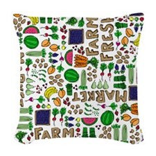 Farmers Market Medley Woven Throw Pillow