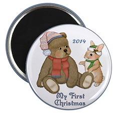 Bear and Bunny 1st Christmas Magnet