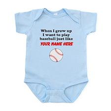 Play Baseball Just Like (Custom) Body Suit