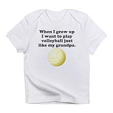 Play Volleyball Like My Grandpa Infant T-Shirt