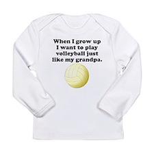 Play Volleyball Like My Grandpa Long Sleeve T-Shir