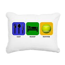 Eat Sleep Tennis Rectangular Canvas Pillow