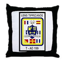 T AO 199 USNS Tippecanoe Throw Pillow