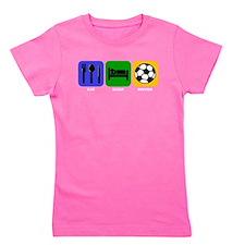 Eat Sleep Soccer Girl's Tee