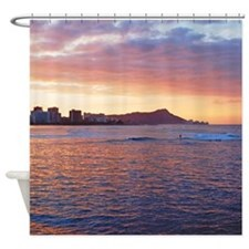 Hawaii Sunrise Surf Tropical Shower Curtain